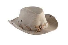 Cowboy hat 2. Beige cowboy hat isolated on white background Royalty Free Stock Image