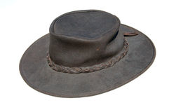 Cowboy Hat. A cowboy brown hat facing left Stock Images