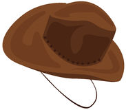 Cowboy hat. Illustration of isolated cowboy hat in brown on white Royalty Free Stock Images