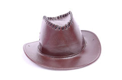Cowboy Hat. Leather made Brown cowboy hat Royalty Free Stock Photo