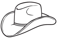 Cowboy hat. A symbol that marks the cowboys Stock Photography