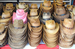 Cowboy hat. S for sale at the fair Stock Image