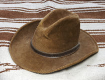 Cowboy Hat. & Blanket Royalty Free Stock Images