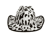 Cowboy hat. Black and white speckled cowboy hat, front view, isolated on white background royalty free stock photos