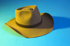 Cowboy hat. Australian cowboy hat made of kangaroo leather stock photo