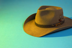 Cowboy hat. Australian cowboy hat made of leather Stock Photography