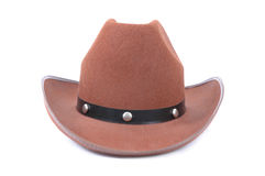 Cowboy Hat. Brown cowboy hat on a white background Stock Photos