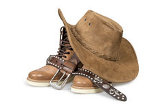 Cowboy hat and accessories Royalty Free Stock Photo