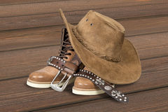 Cowboy hat and accessories Stock Image