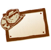 Cowboy Hat Banner. A hand drawn cowboy hat banner / sign. Just add text Royalty Free Stock Image