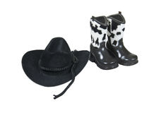 Cowboy Hat and Boots Royalty Free Stock Photography