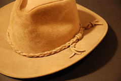 Cowboy hat brown closeup Royalty Free Stock Photography