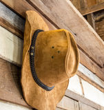 Cowboy hat. Close up of cowboy hat royalty free stock photo
