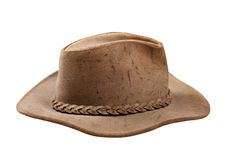 Cowboy hat. Closeup, isolated on white background stock photos