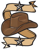 Cowboy hat design. Cowboy hat, american sheriff hat Stock Photography