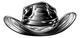 Cowboy Hat Drawing Stock Images