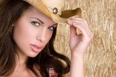 Free Cowboy Hat Girl Royalty Free Stock Image - 9587566