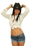 Cowboy hat girl Royalty Free Stock Images