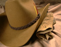 Cowboy Hat & Gloves 1 Royalty Free Stock Photos