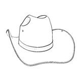 Cowboy hat hand sketch Vector Illustration Royalty Free Stock Images