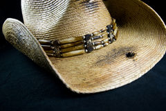 Cowboy hat with hole in brim Stock Photos