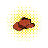 Cowboy hat icon in comics style Royalty Free Stock Photo