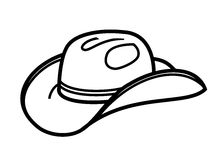 Cowboy hat icon Stock Photos