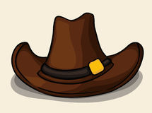 Cowboy Hat in Leather , Vector Illustration Stock Images