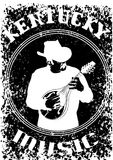 Cowboy with mandolin five Royalty Free Stock Photography
