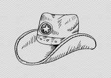 Cowboy hat. Sketchy style. Cowboy hat. Sketchy style illustration vector illustration