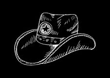 Cowboy hat. Sketchy style. Stock Photos