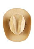 Cowboy hat. Suede cowboy hat, top view , isolated on white stock image
