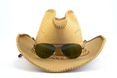 Cowboy hat and sunglasses Royalty Free Stock Image