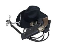 Cowboy Hat and Tools Royalty Free Stock Images