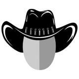 Cowboy hat var 5. Vector illustration cowboy head silhouette in hat Stock Photo