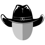 Cowboy hat var 4. Vector illustration cowboy head silhouette in hat Royalty Free Stock Photo