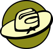 cowboy hat vector illustration Royalty Free Stock Image
