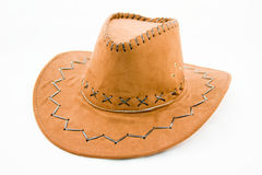 Cowboy hat on a white background Stock Photography