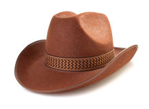 Cowboy hat  on white background Stock Photo
