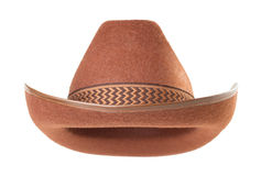 Cowboy hat  on white background Royalty Free Stock Photography