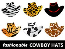 Cowboy hats royalty free illustration