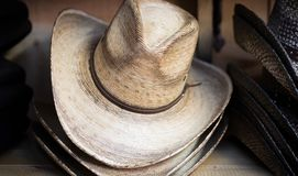 Cowboy Hats di Brown Fotografia Stock Libera da Diritti