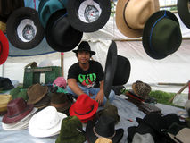 Cowboy hats Stock Images