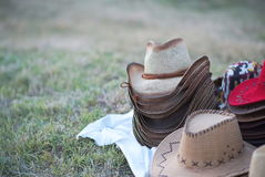 Cowboy Hats For Sale Fotografie Stock Libere da Diritti