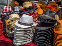 Cowboy hats for sale. CALGARY, CANADA - JULY 13: Cowboy hats for sale on July 13, 2014 in Calgary Alberta Canada. Hats are for sale at vendors located at the Royalty Free Stock Image