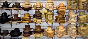 Cowboy Hats For Sale. At Willie Nelson and Friends museum and general store Stock Image