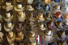 Cowboy hats for sale in Tennessee Royalty Free Stock Image