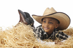 Cowboy in the Hay Stock Photos