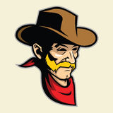 Cowboy Head Mascot Royalty Free Stock Image