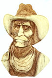 Cowboy head statue Royalty Free Stock Images